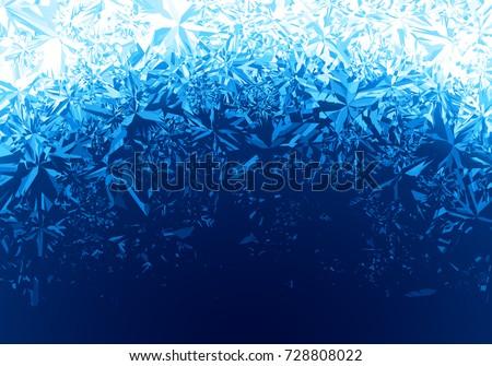 winter blue ice frost