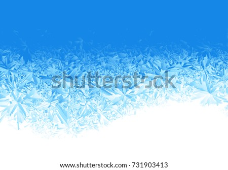 winter blue ice frost
