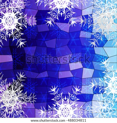 winter blue  purple background