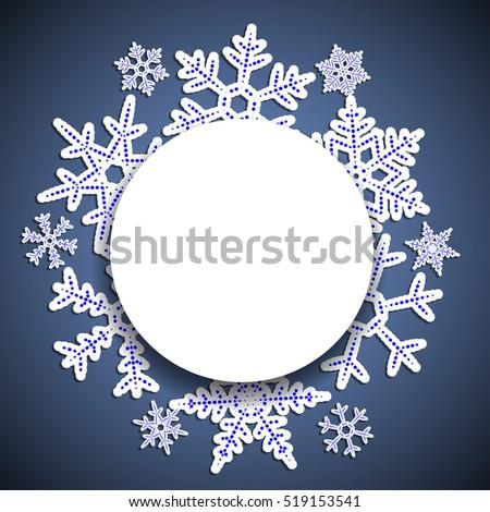 winter blue  vintage ...