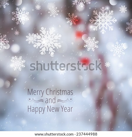 winter blurred background with