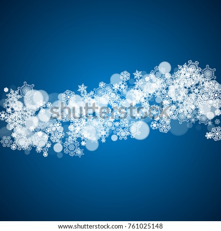 winter border with white snowflakes for christmas and new year celebration holiday winter border on