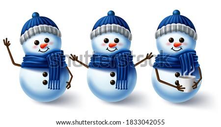winter character vector set