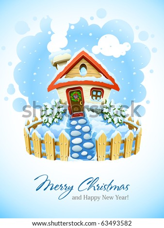 winter christmas landscape with