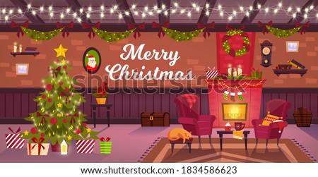 winter christmas room interior