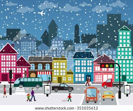 winter christmas urban