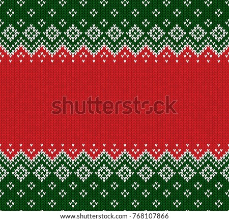 winter christmas x mas knitted