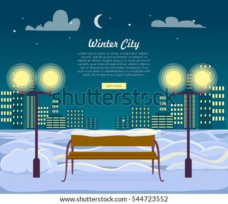 winter city web banner urban