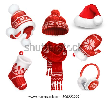 winter clothes santa stocking
