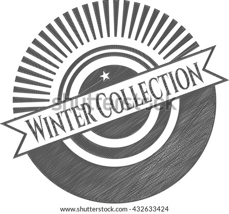 Winter Collection draw (pencil strokes)