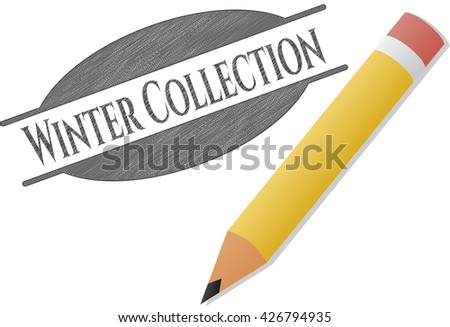 Winter Collection draw with pencil effect