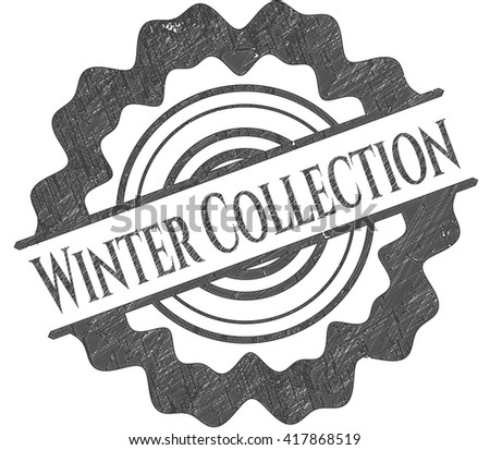 Winter Collection drawn with pencil strokes
