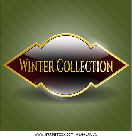 Winter Collection gold badge or emblem