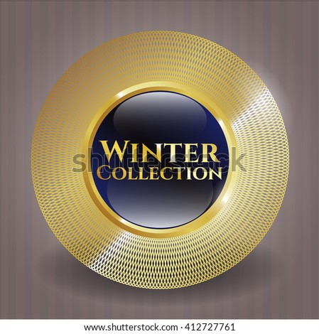 Winter Collection golden emblem