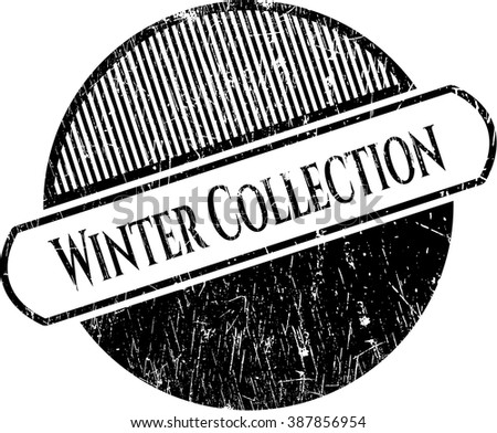 Winter Collection grunge seal