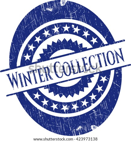 Winter Collection grunge stamp
