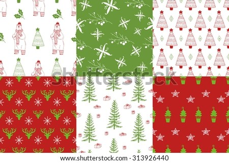 christmas tree argyle pattern background download free vector art