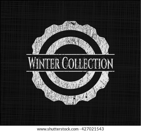 Winter Collection on blackboard