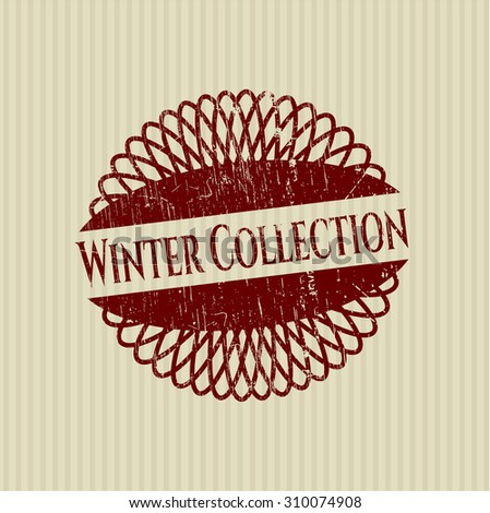 Winter Collection rubber grunge stamp