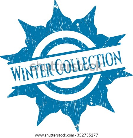 Winter Collection rubber grunge texture seal