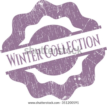 Winter Collection rubber seal with grunge texture