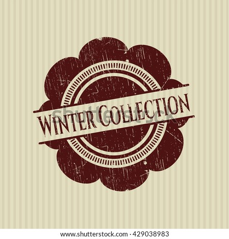 Winter Collection rubber stamp