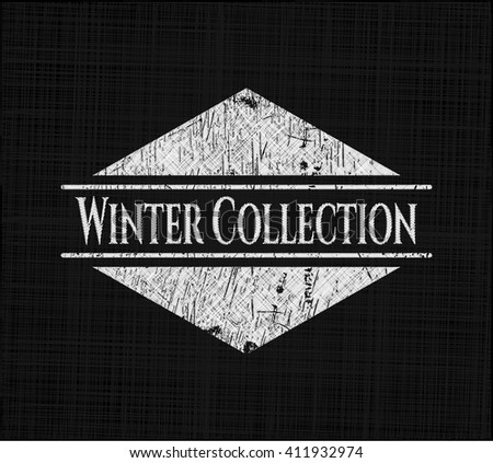 Winter Collection written on a blackboard