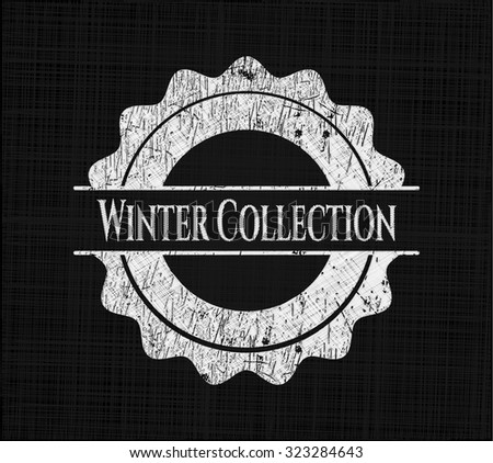 Winter Collection written on a chalkboard