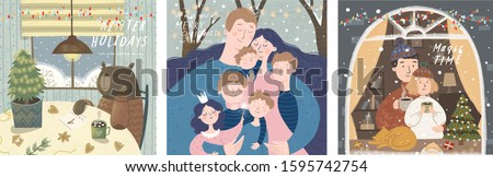 winter cute greeting cards