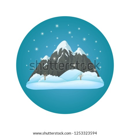 winter day vector icon broad