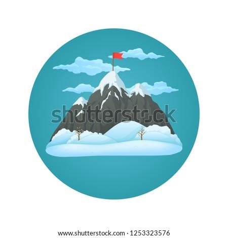winter day vector icon snowy