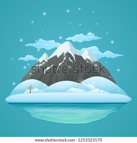winter day vector icon three