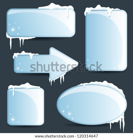 Winter design Christmas sale stickers and tags for text and discounts