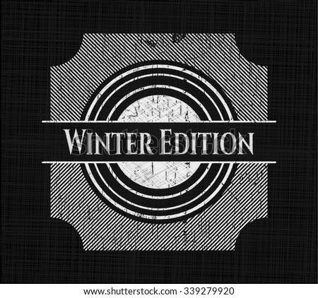 Winter Edition chalk emblem