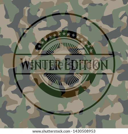 winter edition on camo texture