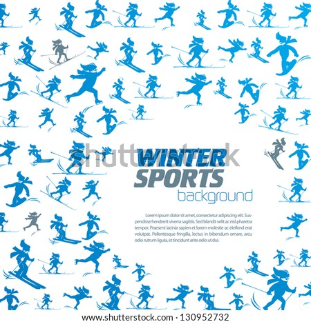 winter extreme sport pattern with place for your text