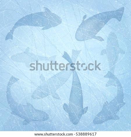 winter fishing ice fishing