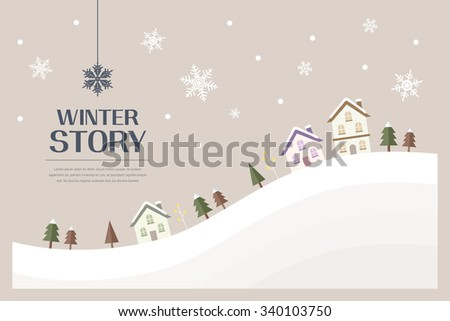 winter flat illustration