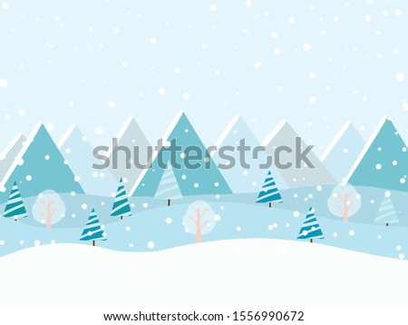 winter forest at daylight and