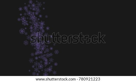 winter frame with ultra violet snow snowflake border for flyer gift card invitation