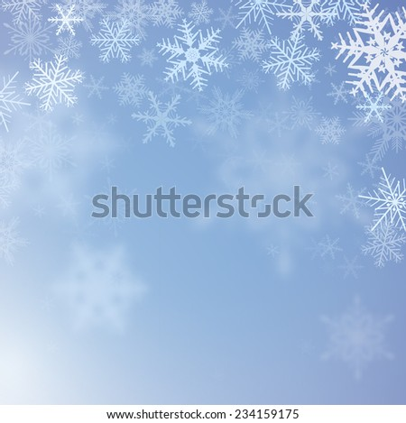winter frozen background with