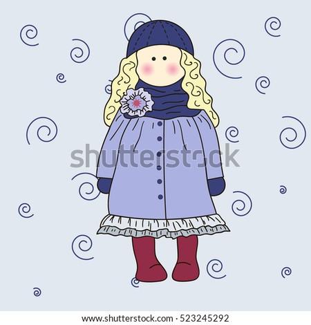 winter girl small pretty