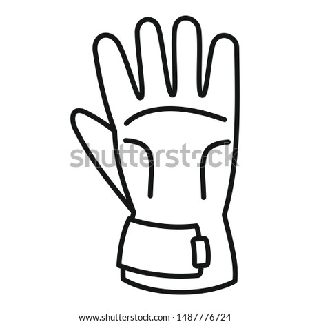 Winter gloves icon. Outline winter gloves vector icon for web design isolated on white background