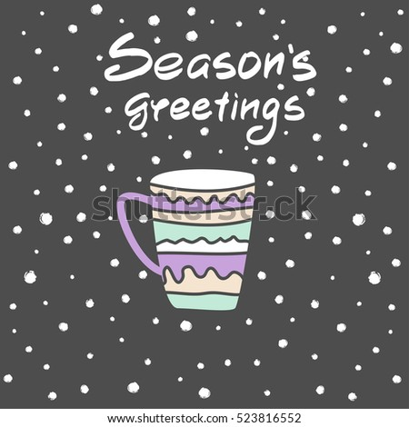winter greeting background with