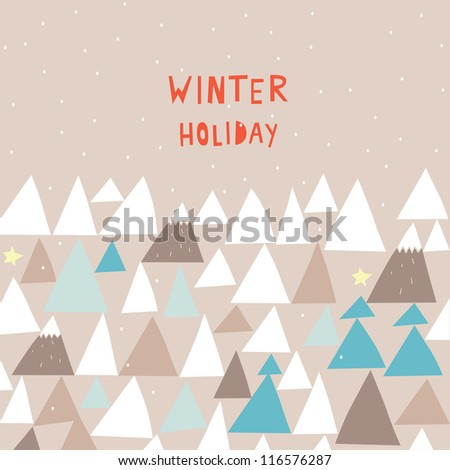 winter holiday - stock vector