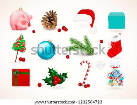 winter holiday decor set of