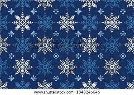 winter holiday pixel pattern