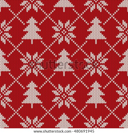 Snowflake Jumper Knitting Pattern : Royalty Free Stock Photos and Images: Winter Holiday Seamless Knitting Patter...