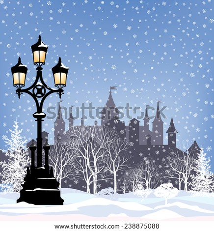 winter holiday snow city