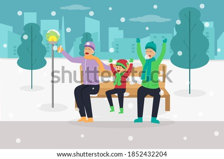 winter holiday vector concept
